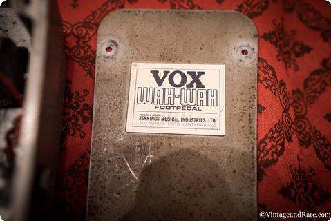 Vox Jmi Wah Wah Castledine Grey  1966 Grey Hammerite Casing