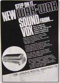 Vox Jmi Wah Wah Castledine Grey  1967 Grey Hammerite Casing