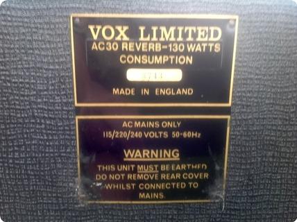 Vox Ac30 Twin Reverb Rose Morris Dallas  1970 Black