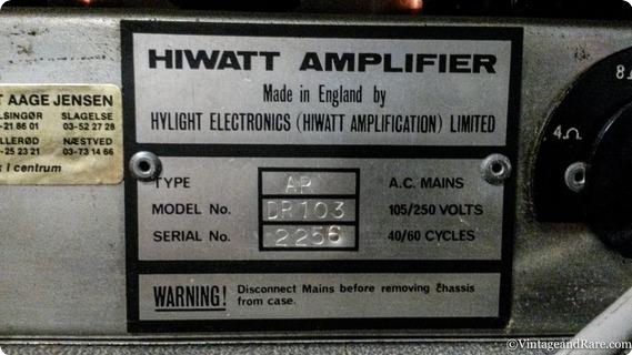 Hiwatt Custom Hiwatt 100 Dr103 Head And A Se4123 412 Cab