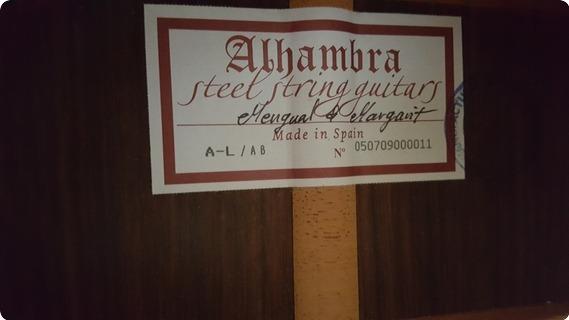 Alhambra A Luthier Auditorium Body 2008