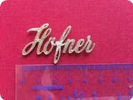 Hofner Hfner Galaxie Logo 2017 Golden