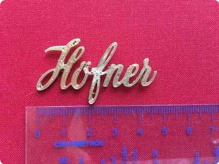 Hofner (höfner) Galaxie Logo 2017 Golden