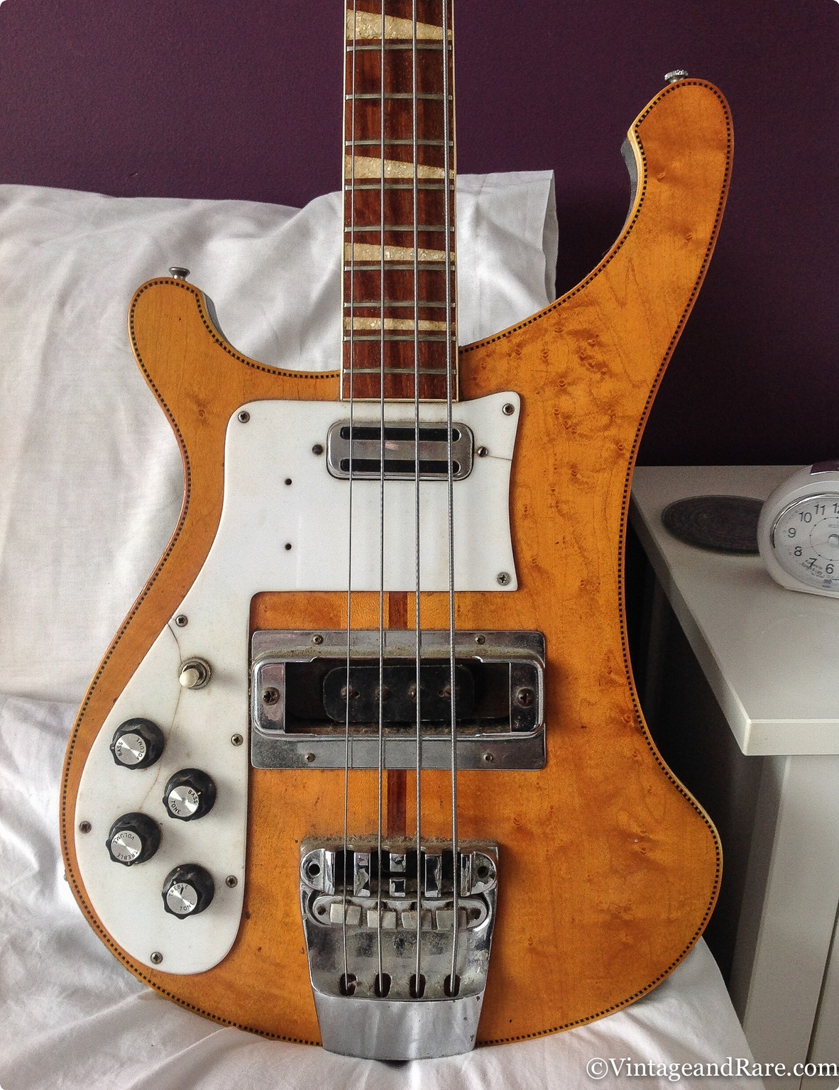 Rickenbacker 4001 Lefthand 1972 Natural Bass For Sale
