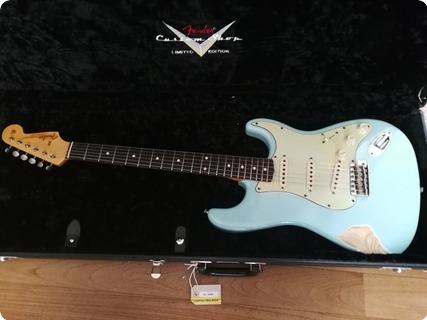Fender  Stratocater Custom Shop Relic 62 L.e. Namm 2007 Daphne Blue Abigail Ybarra Handwound Pickup 2007