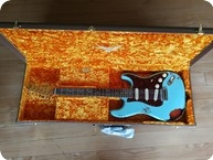 Fender-2018 Fender Custom Shop 62 Heavy Relic Stratocaster Daphne Blue Over Sunbust - Handwound Pick-Up-2018