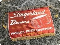 Slingerland Drum Co Banner 1960 Amber