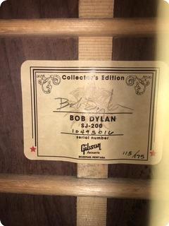 Gibson Autographed Bob Dylan Collectors Sj 200  2015 Sunburst