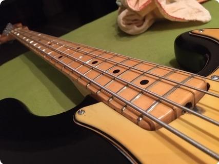 Fender Precision 1957 Refinished Black. Good Condition