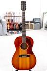 Gibson B25 Vintage Acoustic Guitar In Cherry Sunburst With Brazilian Fretb 1966
