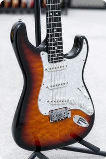 Fender  Custom Shop Set Neck Stratocaster Quilt In Black 1996
