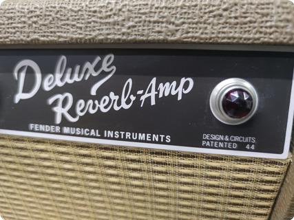 Fender Deluxe Reverb Blonde/brownie 2018 Brown