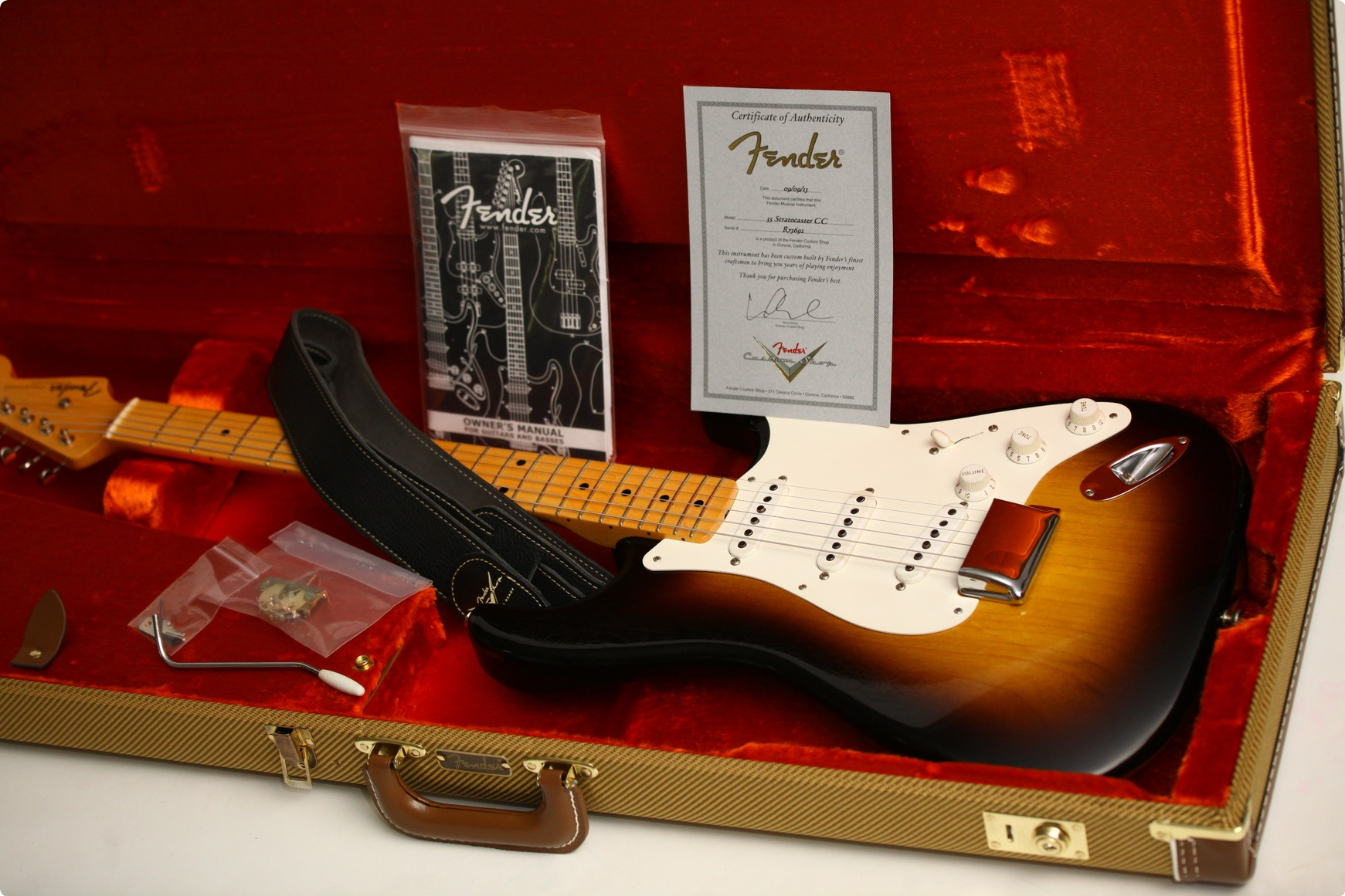 Fender Custom Shop 1955 Closet Classic 2013 2 Tone Sunburst ...