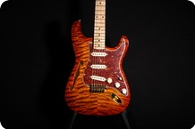Fender Thinline Strat And Tele 1997 Flame Sunburst Maple