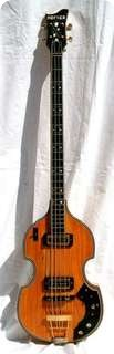 Hofner Deluxe Super Beatle Violin Bass G500/1 1969 Natural Gold Parts