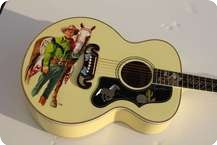 Roy Rogers Dale Evans Jumbo Art Guitar BlondeYellow
