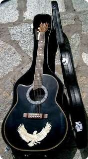 Dillion Model Dx30 Ces Lh Lefty 2008 Black And Eagle In Abalone