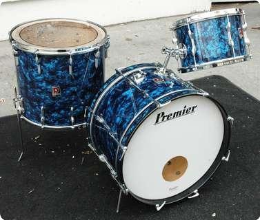 premier premier drum kit 1960 39 s blue pearl drum for sale drumshack ltd. Black Bedroom Furniture Sets. Home Design Ideas