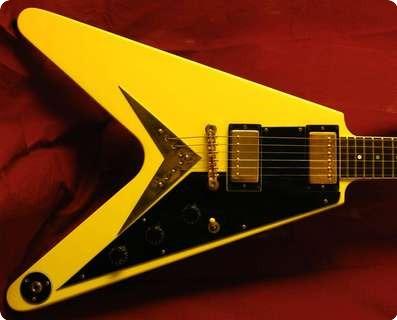 Gibson Flying V Ff82 1982 Blonde