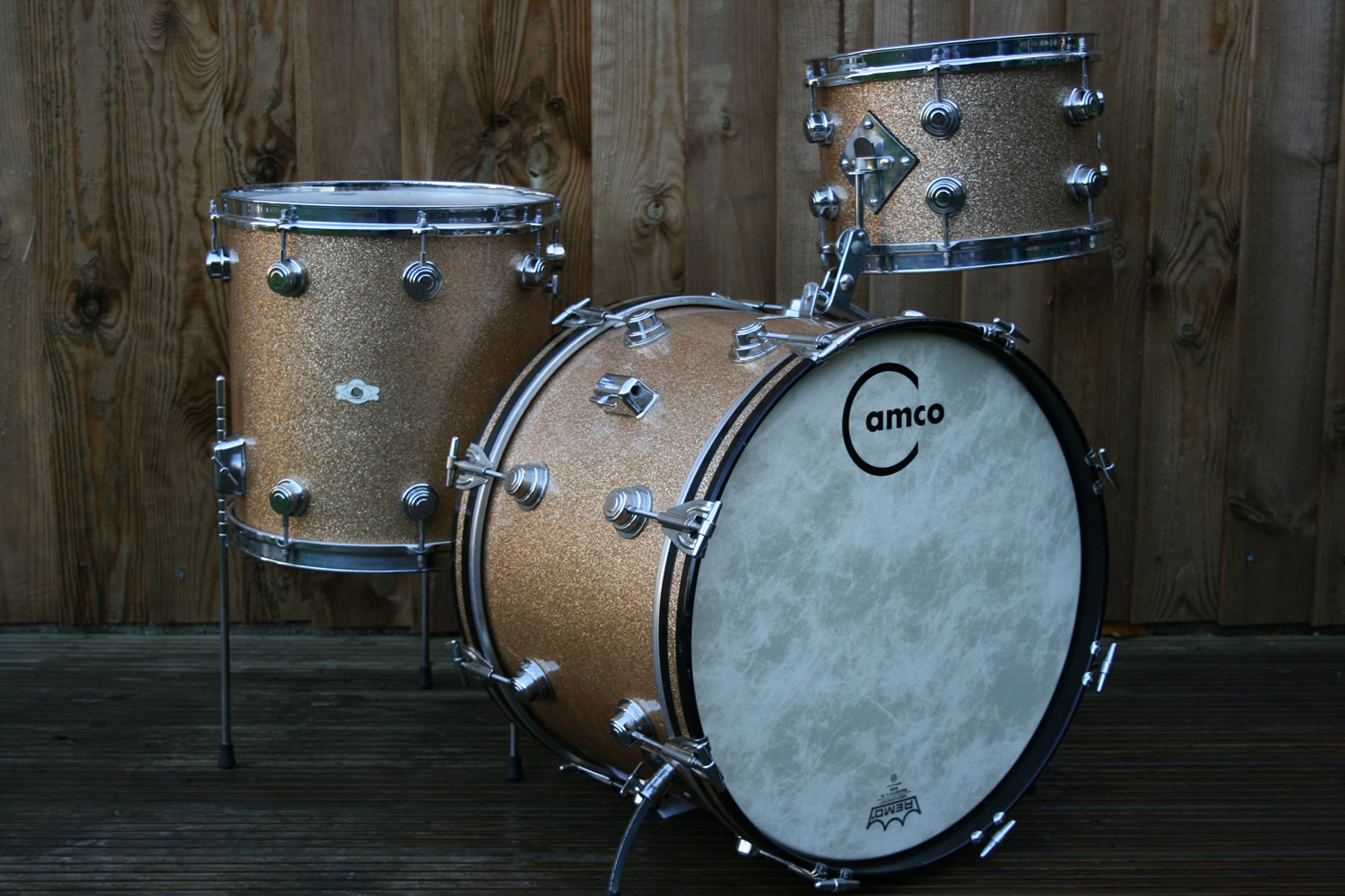 Camco Aristocrat Oaklawn 1960 S Original Champagne Sparkle Drum For Sale Rusty Drums