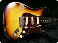 Smitty Guitars S Type Relic Sunburst 3 Tone Sunburst