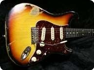 Smitty Guitars S Type Relic Sunburst 3 Tone Sunburst