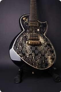 Leather Guitars Samaria. Black Carbon Gold Edition Black, Carbon Fibre, Leaf Gold