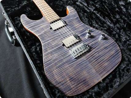 Suhr Standard Flamed Maple! Pau Ferro/mahogany 2012 Trans Blue Denim Slate