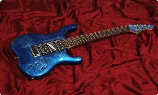 Schloff Guitars Incas Liné Blue Liné
