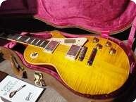 Gibson Les Paul 1958 VOS Custom Shop 2013 20th Anniversary Specs Flametop 2013 Lemonburst