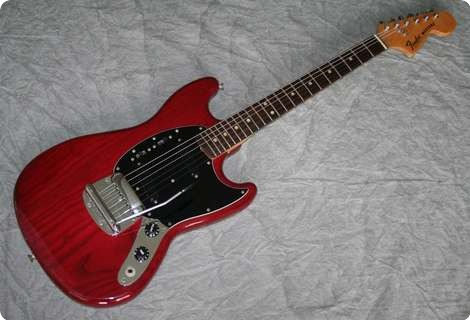 Fender Mustang 1978 See Thru Cherry