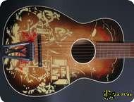 Harmony H1057 1950 Cowboy Motiv On Black