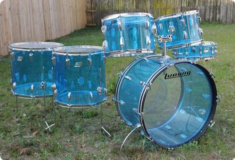 Ludwig Blue Vistalite Vintage Blue Acryl