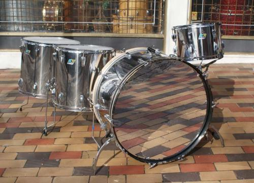 ludwig vintage john bonham drum set 1977 stainless steel drum for sale plektrum. Black Bedroom Furniture Sets. Home Design Ideas