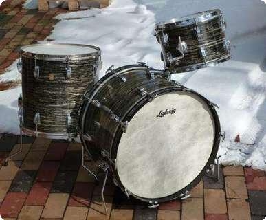 ludwig vintage drum set 1967 black oyster pearl drum for sale plektrum. Black Bedroom Furniture Sets. Home Design Ideas