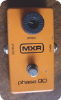 Mxr Phase 90 1977 Orange Blok Logo