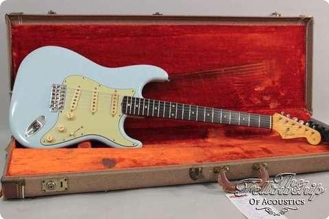 Fender Stratocaster, Vintage, Daphne Blue 1960 Guitar For Sale The Fellowship Of Acoustics