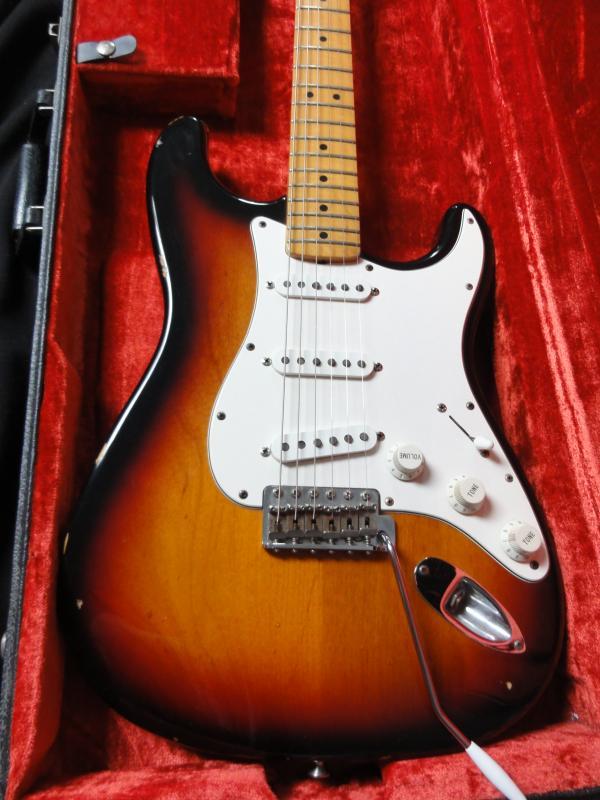 fender stratocaster usa jimi hendrix tribute voodoo strat 1997 sunburst guitar for sale rjv guitars. Black Bedroom Furniture Sets. Home Design Ideas