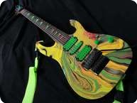 Ibanez UV77MC Swirl 7 String 1990 Multicolor