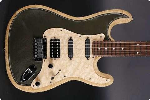 Leather Guitars Everglade Green