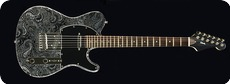 Zeal Guitars Black Paisley 2014 Paisley Fabric