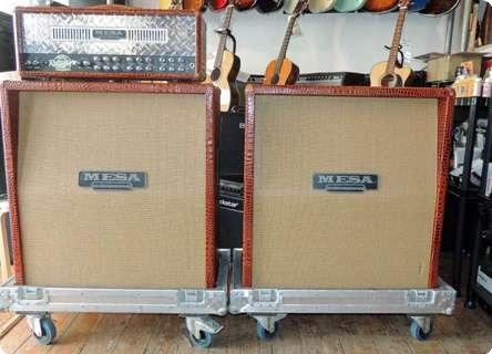 mesa boogie triple rectifier 2 4x12 cabinets 2000 39 s amp for sale charlie chandler 39 s guitar. Black Bedroom Furniture Sets. Home Design Ideas