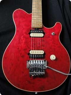 Music Man Evh Eddie Van Halen Quilt 1991 Red