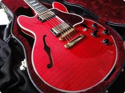 Gibson Cs 356 Figured Top Custom Shop 2010 Cherry Red