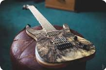 Keller Guitars Buckeye Burl 7string Custom 2013 Satin Natural