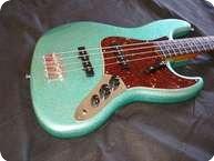 Keller Guitars Jazz Bass 64 2013 Nitro Seafoam Sparkle
