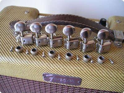 kluson deluxe double line tuners fender 1964 nickel guitar for sale real vintage. Black Bedroom Furniture Sets. Home Design Ideas