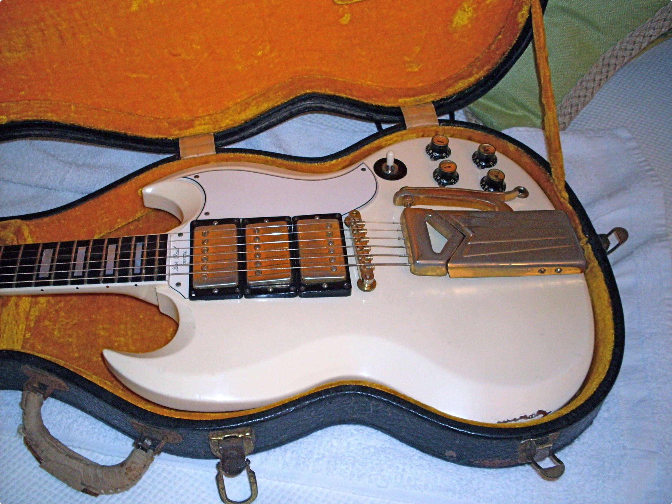 Gibson Les Paul Sg Custom 1962 White Guitar For Sale Ok Guitars Electric Wiring Harness