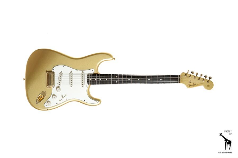 fender stratocaster 50th anniversary gold mexico