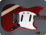 Fender-Mustang Competition-1974-Candy Apple Red CAR